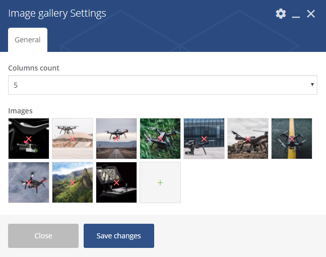 Image gallery settings
