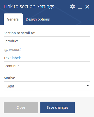 Link to Section Settings