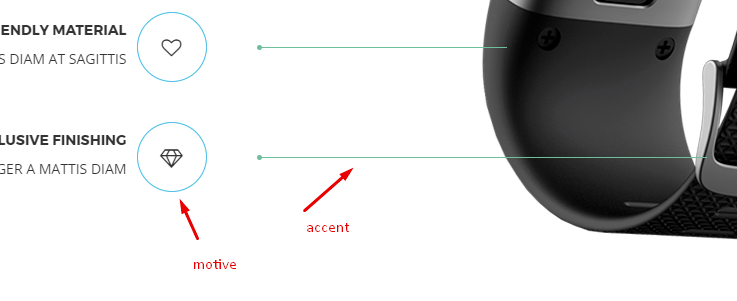 motive and accent motive color