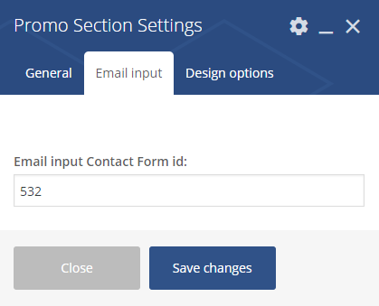 Promo Section Settings 2