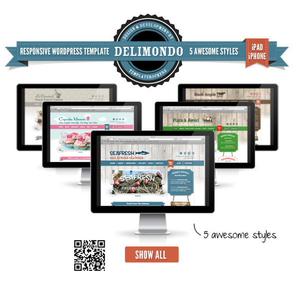 Delimondo Responsive WordPress Theme | 5 Styles - 8